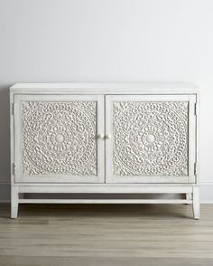 ~ create texture in your home with interesting storage furniture! Cynthia Console by Hooker Furniture at Neiman Marcus.I say you purchase a piece like this an mount the Kohler Brockway double sink on it Hooker Furniture, Painted Furniture, Furniture Makeover, Diy Furniture, Rustic Furniture, Antique Furniture, Modern Furniture, Furniture Storage, Rehabbed Furniture