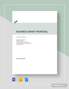Nonprofit Grant Proposal Template - Word | Google Docs | Apple (MAC) Pages | Template.net Business Grants, Start Up Business, Education Grants, Grant Proposal, Goals And Objectives, Proposal Templates, Word Doc, Business Website, Budgeting