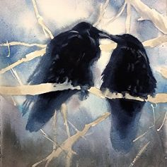 Raven Love by Sarah Yeoman in the FASO Daily Art Show
