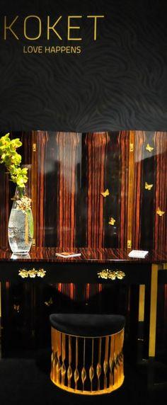 KOKET - stool - black ambiences for home - www.bykoket.com