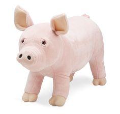 Toutou Peluche Cochon, grandeur réel. 79.99$ Achetez-le info@laboiteasurprisesdenicolas.ca 450-240-0007