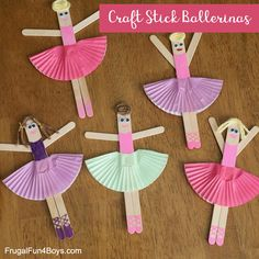 Craft Stick Ballerina Craft - Frugal Fun For Boys and Girls