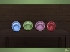 Two decorative plates with small hearts and polka dots. Part of Bon Appetit set. Found in TSR Category & 4 Clutter& Sims 4 Kitchen, Sims 4 Clutter, Small Heart, Bon Appetit, Decorative Plates, Polka Dots, Hearts, Color, Colour