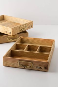 Stacking Wood Trays - anthropologie.com