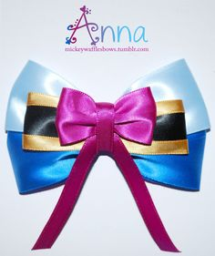Anna Hair Bow by MickeyWaffles on Etsy, $9.00 --This Etsy shop has a bunch of different cute Disney bows!! May need to get a few.. °O°Megz