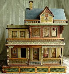 Reduced! Large Bliss House with Blue Roof - Bunny's Babies #dollshopsunited