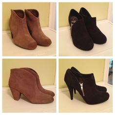 New booties for fall. Both from Famous Footwear.