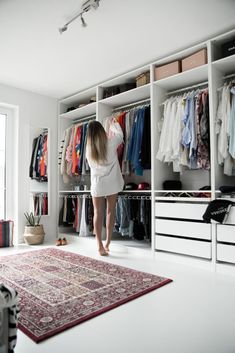 my dressing room - open Ikea Pax wardrobe. white dressing room - my dressing room – open Ikea Pax wardrobe. Walk In Closet Design, Bedroom Closet Design, Master Bedroom Closet, Closet Designs, Home Bedroom, Ikea Bedroom, Bedroom Furniture, Bedroom Decor, Bedroom Wall