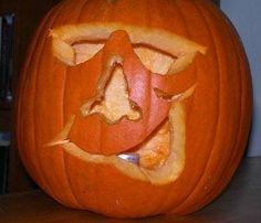 Cool Guy Carved Pumpkin