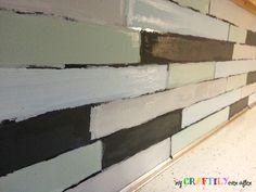 painted backsplash in progress