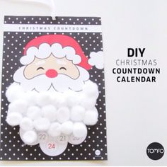A new free Diy Christmas countdown calendar on the blog today. Last year's was blue, this year I've gone black with white crosses. It's a free printable that will make you look like a super mum or dad! Simply print out and then add a cotton wool ball every day with the kids, once his beard is made Santa will be arriving the next morning. Link is in my profile. Enjoy. #tomfo  #christmascountdowncalendar #santabeardcalendar #diyadventcalendar #freeprintables