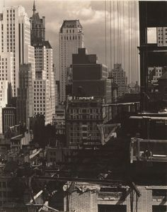 From My Window at An American Place, North / 1931 New York City photographed by Alfred Stieglitz.