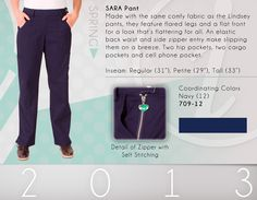 709 Sara Pant - 709-12 (Navy)