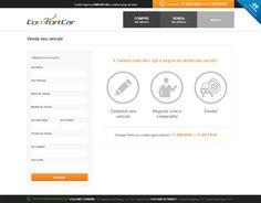 Página para envio de informações de venda e avaliação do veículo.