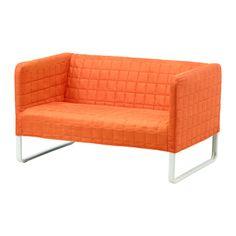 KNOPPARP Sofá 2 plazas - naranja - IKEA