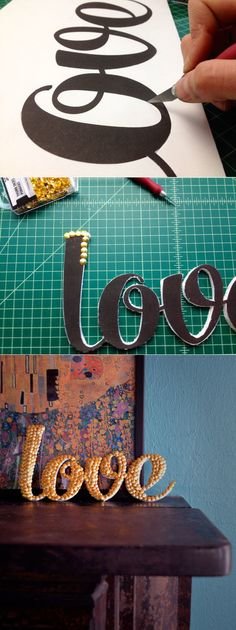 LETTER ART WITH THUMB TACKS   Save on Crafts | 31 Easy DIY Crafts http://www.jexshop.com/