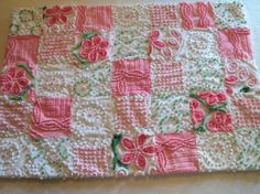 Pink baby quilt vintage chenille bedspread by CulpsCozyQuiltCoop, $55.00