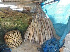 Tools in one of kelp farm in Lembongan