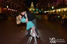 A night on the town, downtown Fort Worth.  Engagement photos  Jim Byrd Photography  Fort Worth Wedding Photography  Fort Worth Wedding Photographer