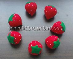 felt strawberry tutorial from Lit'l Brown Bird's Passion