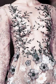 Detail at Georges Hobeika Couture Fall 2016.