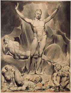 "William Blake's illustration of Satan as presented in John Milton's Paradise Lost. (ParadiseLButts1 - Satan). Satan (Hebrew: שָּׂטָן satan, meaning ""adversary""; Arabic: شيطان shaitan, meaning ""astray"" or ""distant,"" sometimes ""devil"") is a figure appearing in the texts of the Abrahamic religions who brings evil and temptation, and is known as the deceiver who leads humanity astray. Some religious groups teach that he originated as an angel who fell out of favor with God, seducing humanity…"