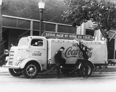 Coca Cola Soda Truck Vintage 1950's 8x10 Reprint Of Old Photo This is an excellent reproduction of an old photo on quality photography paper not cheap ink jet stock. Size 8x10 Reprint Of inches. Repro