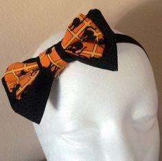 Halloween Bow Headband//Bow Clips//Baby Bow Headband//Girls Headband on Etsy, $7.00