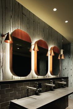 Restaurant Bathroom Design - Badezimmermöbel Restaurant Bathroom Design by no means walk out types. Restaurant Bathroom Design could be ornamente. Australian Interior Design, Interior Design Awards, Interior Design Inspiration, Bathroom Inspiration, Design Ideas, Restaurant Bad, Restaurant Bathroom, Restaurant Design, Washroom Design