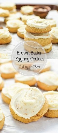 Brown Butter Eggnog Cookies are buttery, sugary and super flavorful holiday cookies that are perfect to add to this year's baking menu!