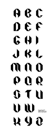 facet font tipografia diseño grafico