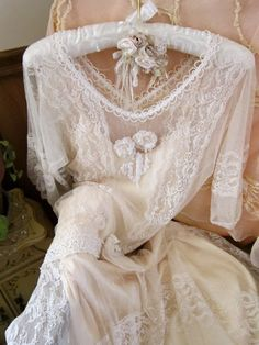 Beautiful vintage lace gown