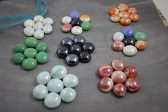 Lot of Seven Flower Pendants for Jewelry Making by soyon on Etsy, $20.00