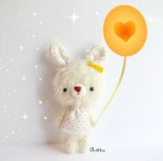 Candy Bunny mohair plush