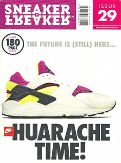Sneaker Freaker Magazine Issue # 29 Purple Yellow Huarache