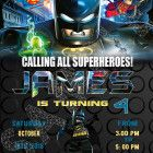 lego batman birthday invitations - Custom printing invitations Welcome to Best Birthday Party This is a s Lego Batman Movie Birthday invitation will be a perfect addition to celebrate your Lego Batman Invitations, Lego Birthday Invitations, Custom Invitations, Lego Batman Birthday, Lego Batman Party, Superhero Birthday Party, Custom Printing, Invite, How To Memorize Things
