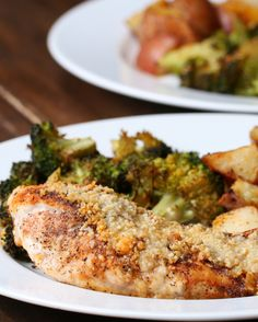 WATCH the VIDEO!!  It looks ally good and really easy!!   One-Pan Garlic Parmesan Chicken And Vegetables