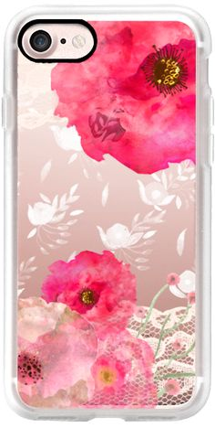 Casetify iPhone 7 Classic Grip Case - Pink Floral by Li Zamperini Art #Casetify