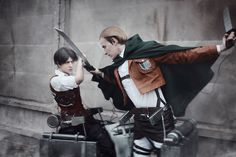 AMAZING cosplay ll Attack on Titan ll Special Operations Squad: Levi Ackerman and Erwin Smith Levi Cosplay, Cosplay Tumblr, Cosplay Anime, Eruri, Levi X Eren, Another Anime, Amazing Cosplay, Manga, Look At You