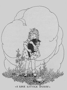 I Like Little Pussy ill by Marion H. Matchitt by katinthecupboard, via Flickr