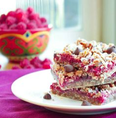 raspberry coconut bars  Now, these look a little more like your bar Kim. Must try.