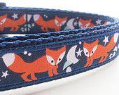 Sly Fox - Dog Collar / Pet Accessories / Handmade /  Adjustable