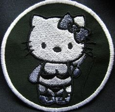 Hello kitty style bdsm s&m s and m 50 shades of grey patch Iron or Sew On