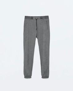 ZARA - SALE - Drawstring waist trousers