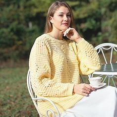 Crochet Spring Sweater Pattern from Leisure Arts. Find it here: http://www.leisurearts.com/products/soft-spring-sweater-crochet-pattern-epattern.html
