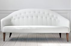 midcentury white sofa