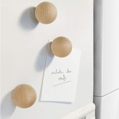 Wooden Ball Magnet - Office + Storage