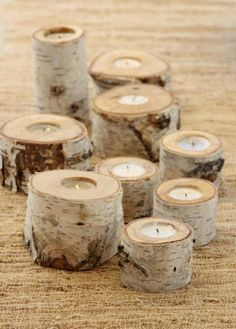 birch candle holders cute centrepiece idea