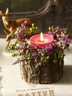 Herbstdeko: Stimmungsvolles Kerzenlicht – Everything for Decoration Lights Wallpaper, Fall Crafts, Christmas Crafts, Candle Lanterns, Candles, Deco Champetre, Decoration Entree, Wood Candle Holders, Woodworking Projects That Sell