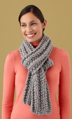 Loom Knit  - On M. Stewart loom Mistake Rib Scarf